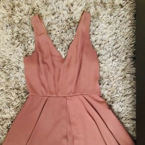 Brown Short Dress Romper